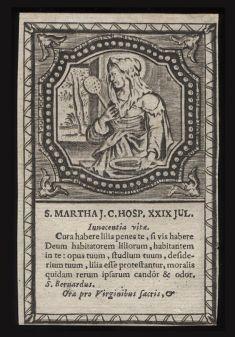 st martha woodcut